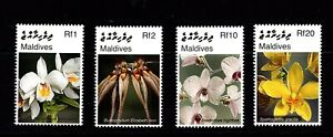 Maldives Islands  #2927-30  (2007 Flowers set) VFMNH CV $5.25