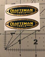 Vinyl STICKER 1.75 Inch 1950/'s CRAFTSMAN TOOLS x 8 Vintage Style DECAL