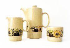 Vintage Poole Pottery Sherwood Coffee Set Coffee Pot Milk Creamer Jug Sugar Bowl