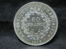 "Silbermünze 900er - Frankreich 50 Francs 1975 ""Herkulesgruppe"" VZ   6M5953"