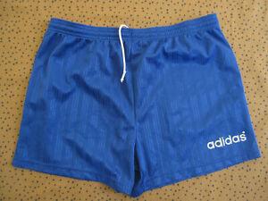 Short Adidas Vintage bleu 90'S Retro Polyester ancien football retro - 44 / M