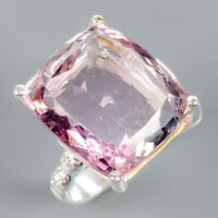 Fine Art30ct+ Natural Ametrine 925 Sterling Silver Ring Size 9/R112149