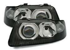 black finish headlights front lights in FACELIFT Look for Audi A3 8L 00-03
