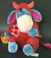 Disney Store EEyore Devil Halloween Plush Stuffed Animal Blue Red Boy Girl Toy