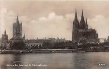 Germany real photo postcard Koln a Rh Dom und St. Martinskirche