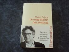 livre  LE MAGNETISME DES SOLSTICES  - Michel ONFRAY