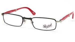 NEW PERSOL 2401-V 1055 BLACK EYEGLASSES GLASSES 51-21-145mm Italy