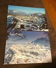 2 RARE Postcards from Salzburg Austria Unused Sound Of Music Monchsberg NEW