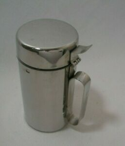 Aluminum Creamer with Lid Acrylic Insert Pour Sprout to Avoid Spills New