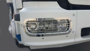 Mercedes Atego Headlight Protector Super Polished Stainless Steel 2 Pcs