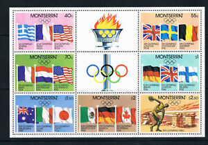 Montserrat 1980 Olympic Games, Moscow miniature sheet **/MNH SG MS475