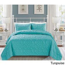 Marriott Hotel Bedding Queen Bedspread Set 3-Piece Tropical Beach Bed Bath