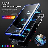 Coque Pour Samsung Galaxy A71 A51 A50 A40 A20 360 corps plein 9H Magnétique Case