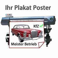 10 x Plakat Poster DIN A2 ( 60 cm x 42 cm ) Solvent Druck 1440 dpi