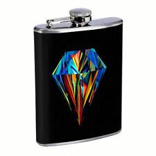 Diamond Em1 Flask 8oz Stainless Steel Hip Drinking Whiskey