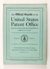 1937 US THE OFFICIAL GAZETTE OF THE UNITED STATES PATENT OFFICE Book