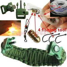 Survival Paracord Bracelet Custome Handmade Scraper Christma Gift present Fishin
