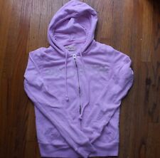 HOLLISTER Women's Pink Zip-up Spelled Out Logo Hoodie Jacket - Size Small