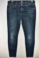 Seven 7 For All Mankind Gwenevere Womens Blue Jeans Skinny Size 28 Meas 30x31