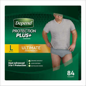 Depend FIT-FLEX Underwear for Men Size: Large - 84Ct - Free Shipping!
