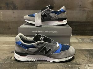 New Balance Men's 998 Made In USA Gray Blue M998NF Mens Size 5.5 Women's 7