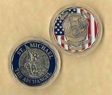 "Saint Michael ""The Archangel"" Law Enforcement / Police Officer Challenge Coin"
