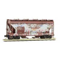 Burlington Northern Santa Fe 2-Bay Hopper Graffiti & Weathered MTL#09244430 N