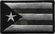 Puerto Rico Multicam Black Flag Patch VELCRO® BRAND Hook Fastener Compatible
