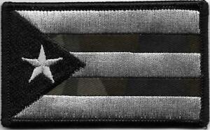 Porto Rico Multicam Noir Drapeau Patch hook & loop tape Fermeture Compatibles