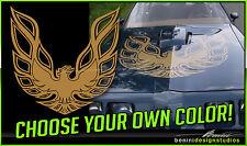 "Pontiac Firebird Trans Am Hood Bird Custom Decal 45""x45"" All Years 2 Pieces"