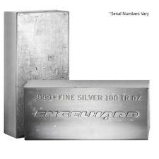 100 oz Engelhard Silver Vintage Bar .999 Fine