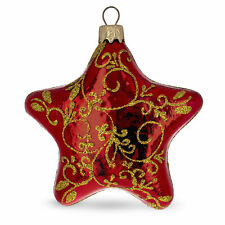 Red Star Glass Christmas Ornament