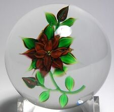 EARLY DEBBIE TARSITANO THREE TIER RED FLOWER WITH BUDS PAPERWEIGHT