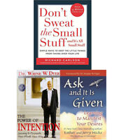Don't Sweat,The Power  Intention,Ask and It is Given 3 Books COllection Set NEW