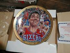 Julius Irving Philadelphia 76ers Sports Impressions Collector Vtg Plate