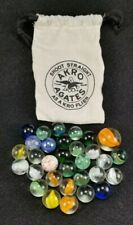Vintage Style Akro Agates Marble Bag With 30 Marbles & 1 Shooter - FREE S&H!!