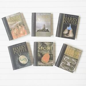 6x HOGWARTS TEXTBOOKS Dollhouse Miniature Prop Wooden Books HARRY POTTER 1:12