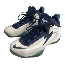 Mens 9 Nike Barkley Chuck Posite Basketball Shoes White Navy Blue Gem Mid Top