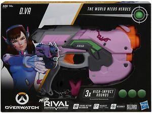 NERF Rival Overwatch D.VA Blaster 3 Overwatch DVA Rounds - New (Free Shipping)