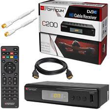 Opticum C 200 DVB-C HD Kabel Kabelfernsehen TV Receiver HDMI + 1m Antennenkabel