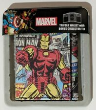 IRON MAN LEATHER TRIFOLD WALLET - MARVEL COMICS OFFICIAL LICENSED PRODUCT {B82}