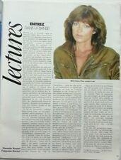 MARIE-FRANCE PISIER => COUPURE DE PRESSE 1 PAGE 1984 / CLIPPING