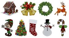 Christmas Holiday Embroidered Iron On Patches Bells Stocking Snowman 134