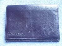 British Airways Concorde smythsons de Bond Street CUIR PORTEFEUILLE