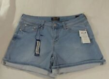 Women's Seven7 Knit Denim Shorts Powell Blue  Loose Cuff Size 8