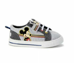 NEW Disney Junior Mickey Mouse Toddler Boys Canvas Sneaker Shoes Size 7 & 10