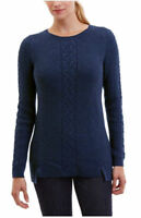 NWOT NAUTICA WOMEN'S TUNIC CABLE KNIT SWEATER SMALL NAVY