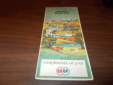 1965 Co-Op Colorado/Nevada/Utah Vintage Road Map