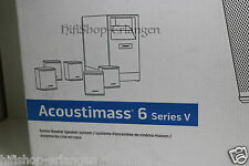 Bose Acoustimass 6 Series V - 5,1 Heimkino Lautsprecher - System Schwarz NEU/OVP