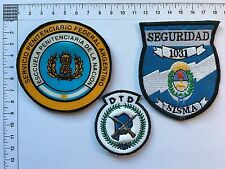 3 ORIGINAL PENITENTIARY POLICE SECURITY SISMA PATCHES PATCH ARGENTINA 80s 90s